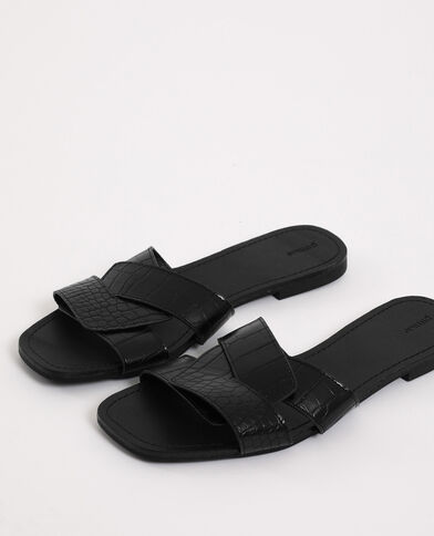Sandales plates noir - Pimkie