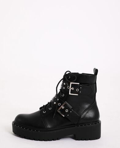 Boots rock à sangles noir