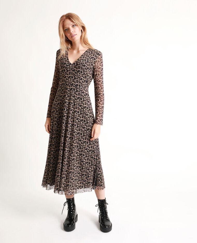 Robe longue léopard marron - Pimkie