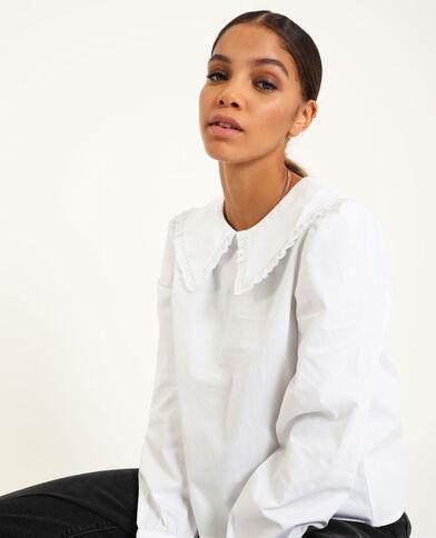 Chemise grand col blanc