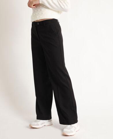 Pantalon à jambes larges noir