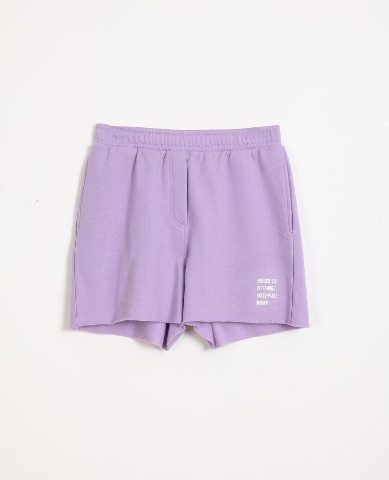 Short en molleton lilas