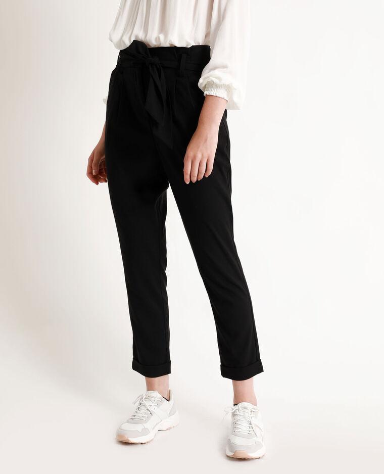 Pantalon carotte noir
