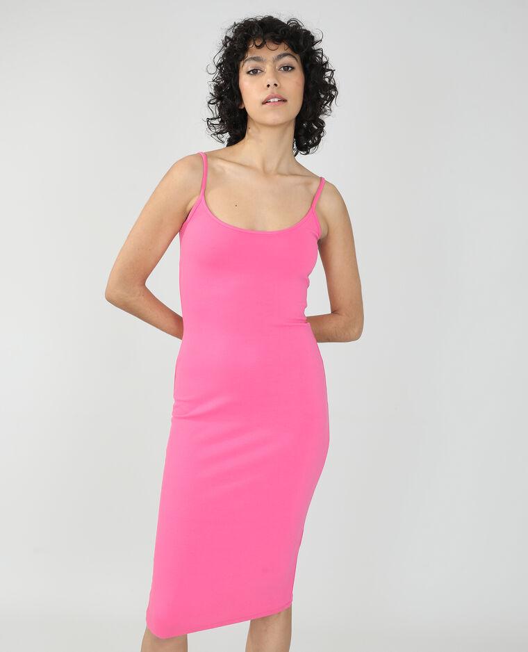 Robe longue moulante rose - Pimkie