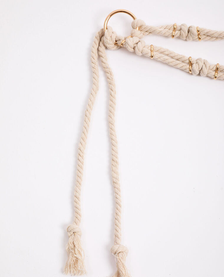 Ceinture en corde blanc - Pimkie