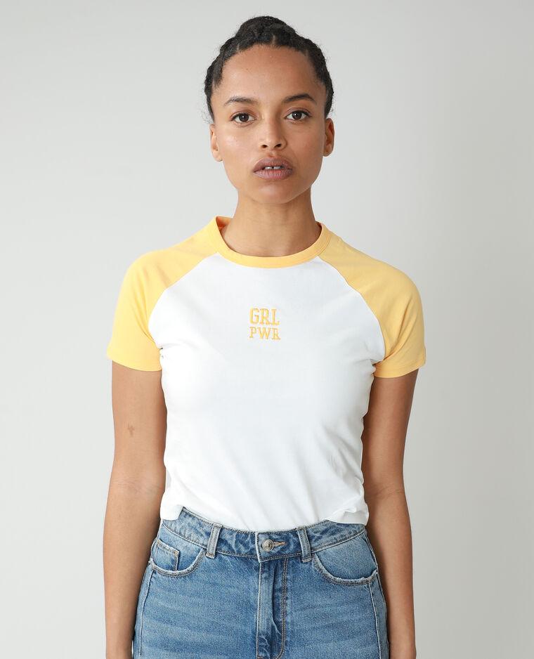 T-shirt à message blanc - Pimkie