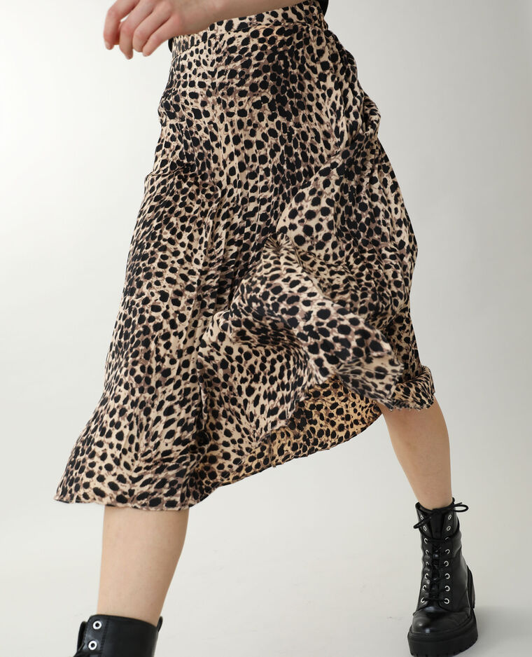 Jupe longue plissée noir