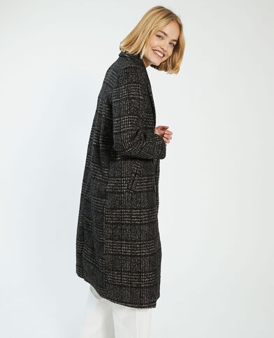 Manteau long avec 50% de laine marron - Pimkie