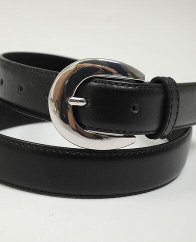 Ceinture en simili cuir noir - Pimkie