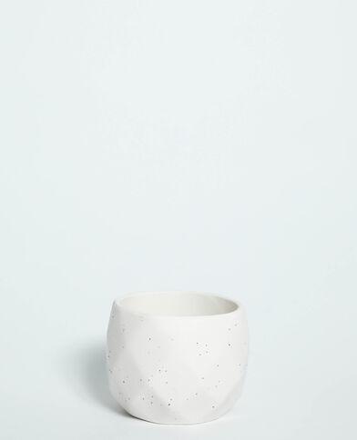 Pot géométrique blanc - Pimkie