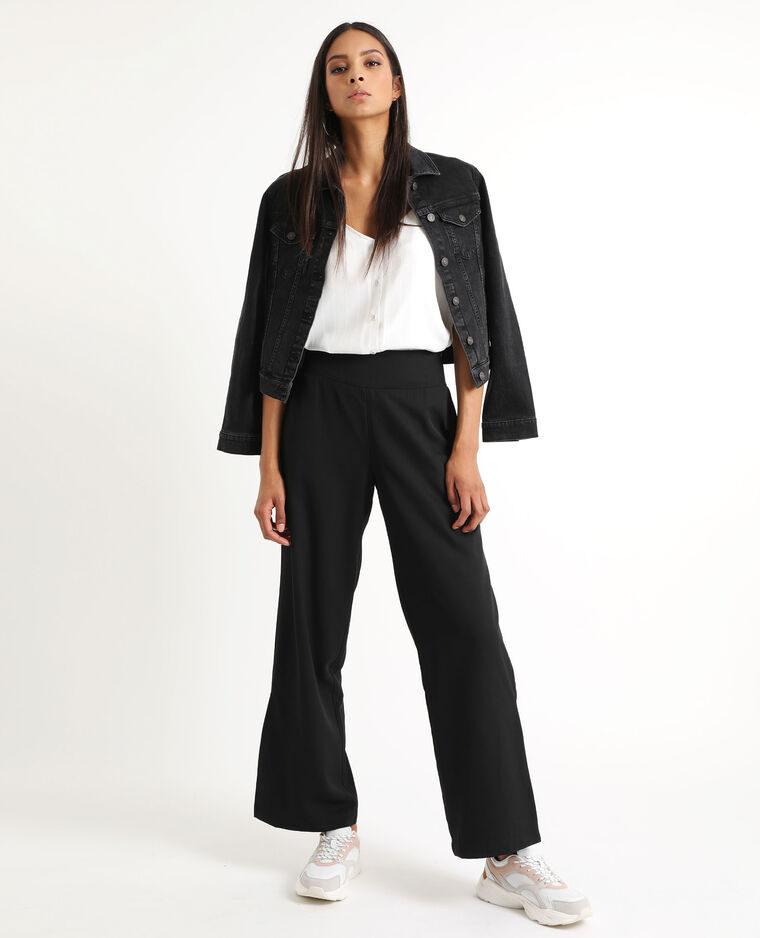 Pantalon fluide large noir