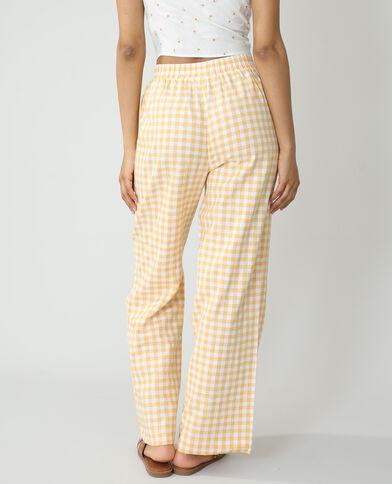 Pantalon wide legs Vichy orange - Pimkie