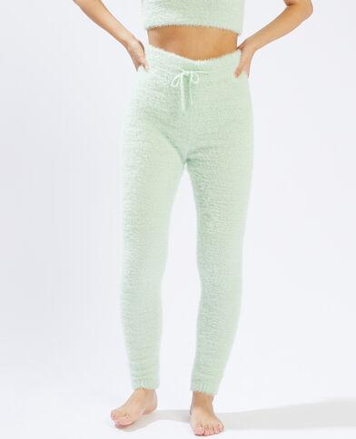Legging en maille poilue vert - Pimkie