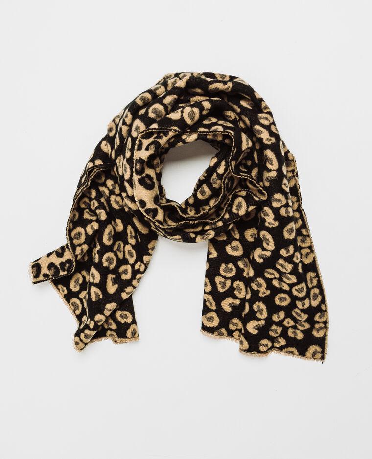 Echarpe léopard noir -60% - 916786899I8E   Pimkie cfd47863b28