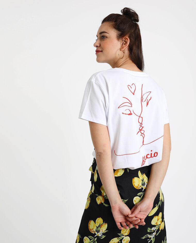 T-shirt Bacio blanc