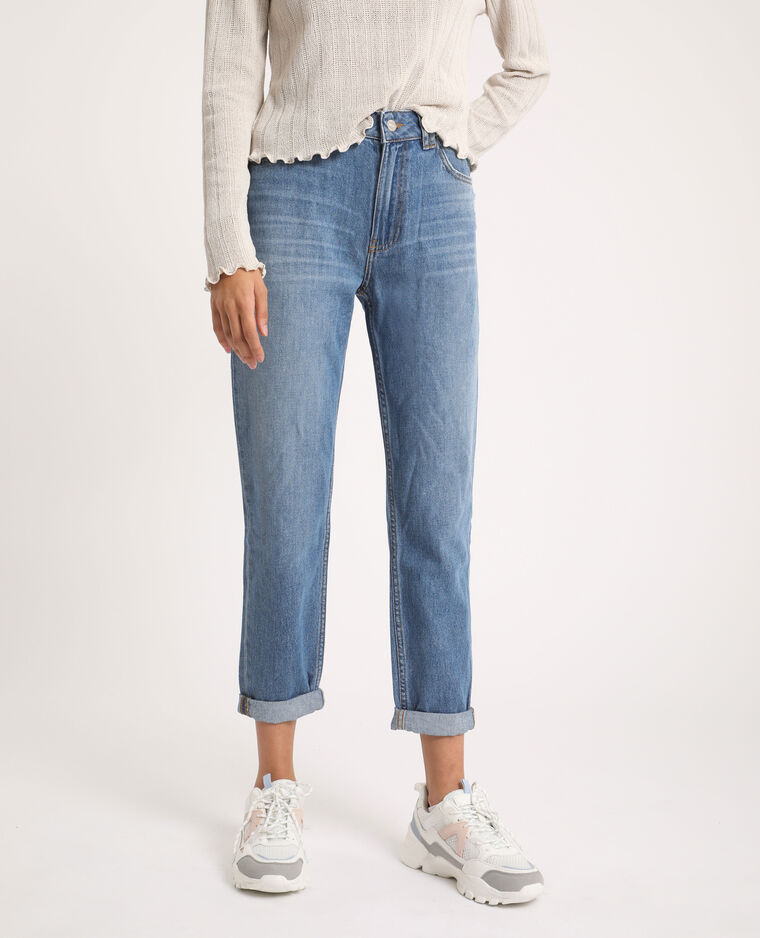 Jean mom high waist bleu jean