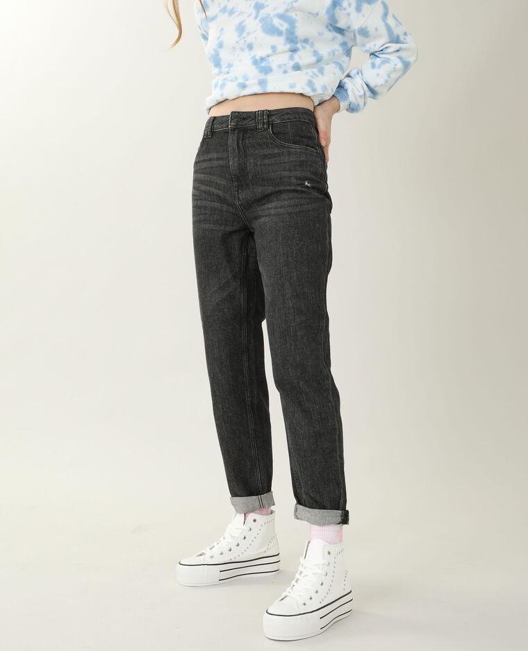 Jean mom high waist noir