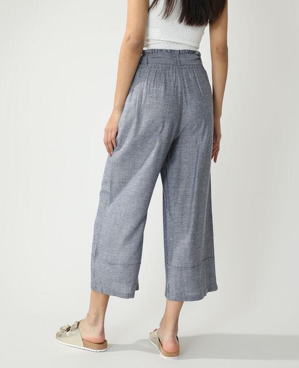 Pantalon wide leg bleu - Pimkie