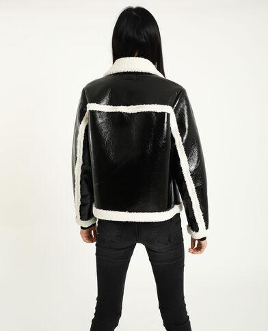 Veste en vinyl noir