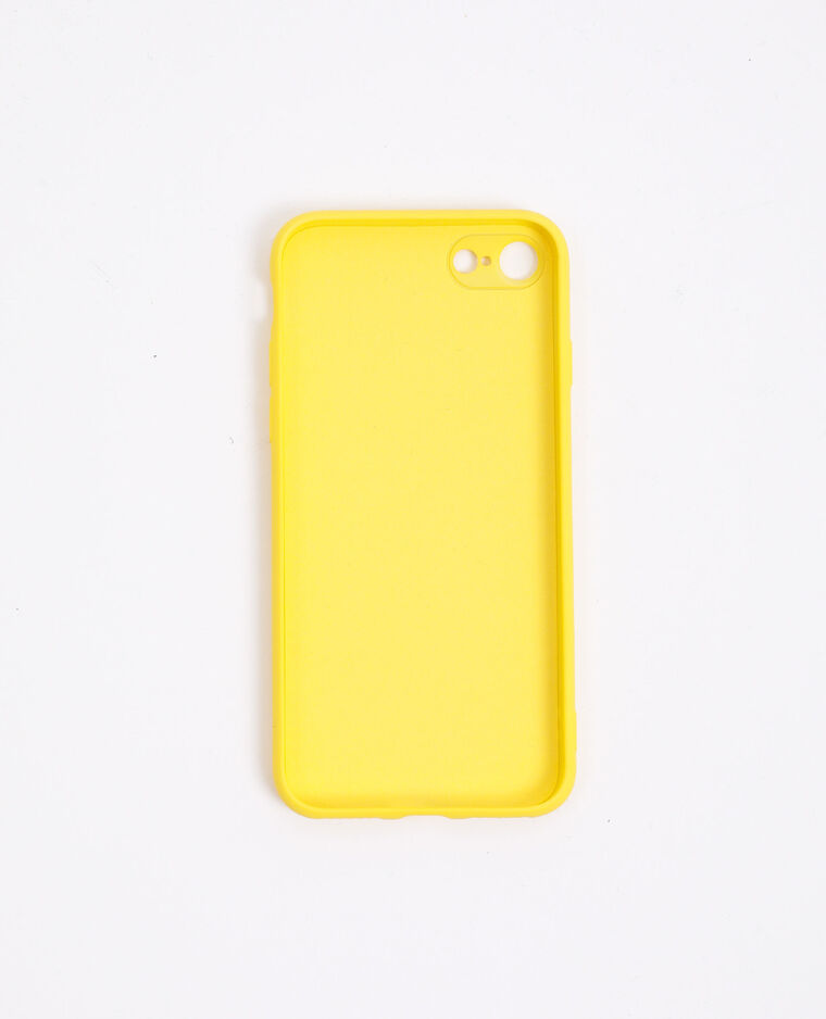 Coque compatible iPhone jaune