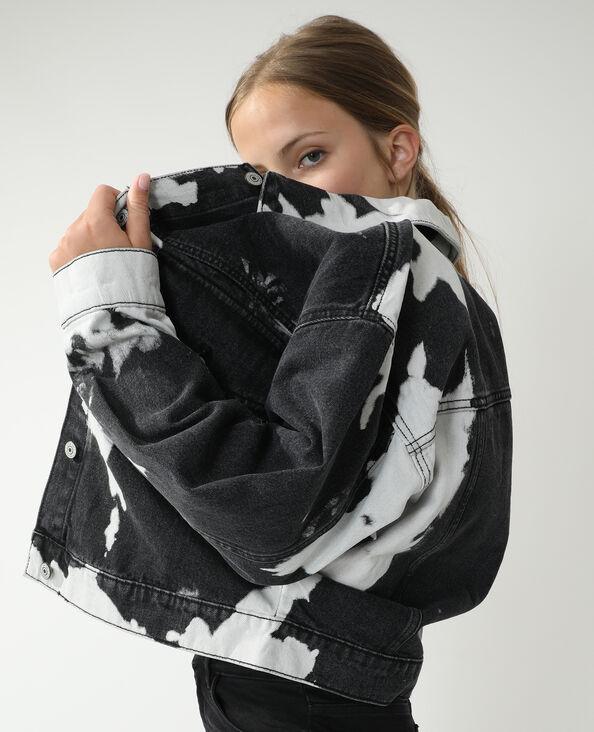 Veste en jean oversize vachette noir - Pimkie