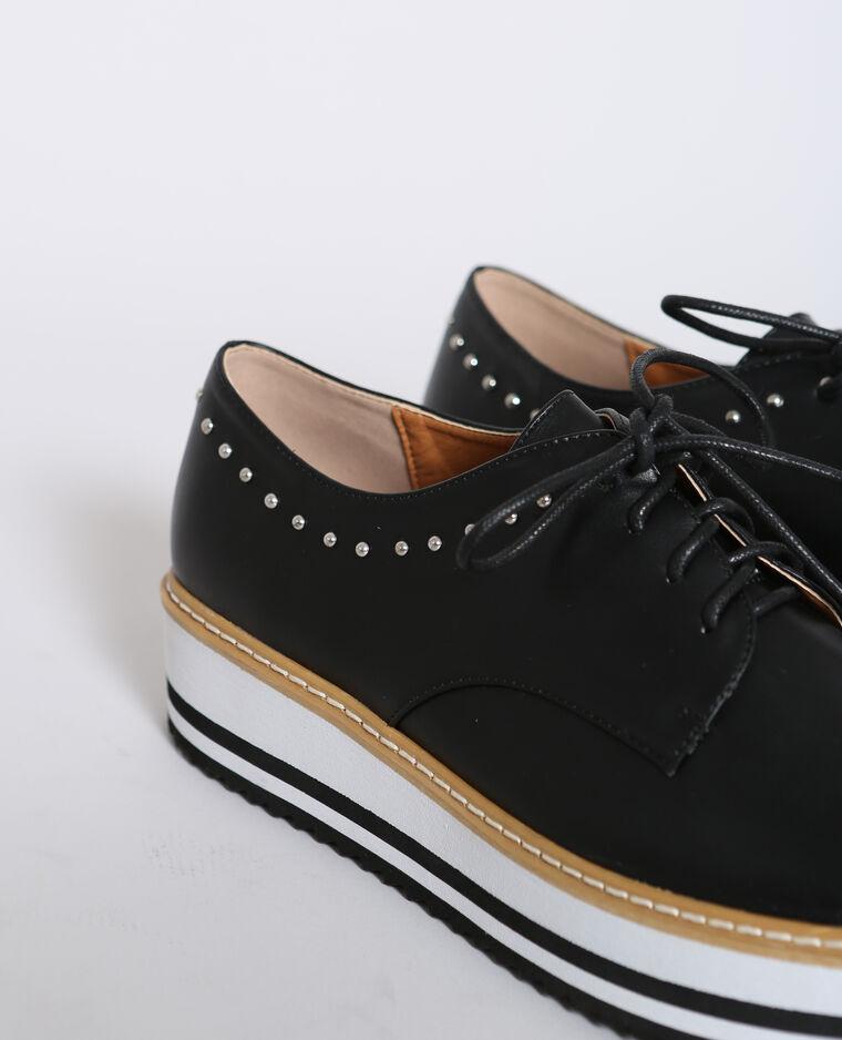 Derbies en faux cuir noir