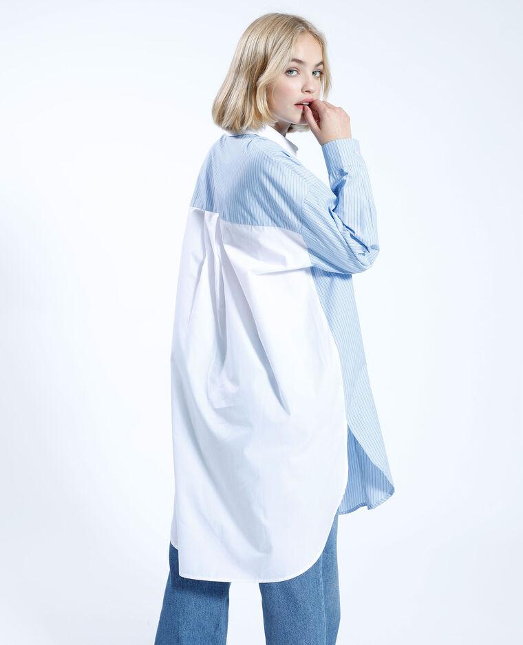 Robe chemise bigoût oversize rayée bleu - Pimkie