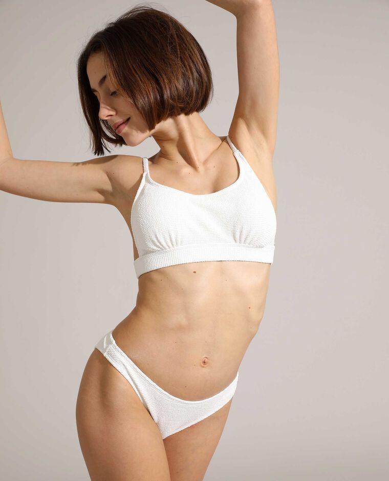 Haut de maillot de bain brassière texturé blanc - Pimkie