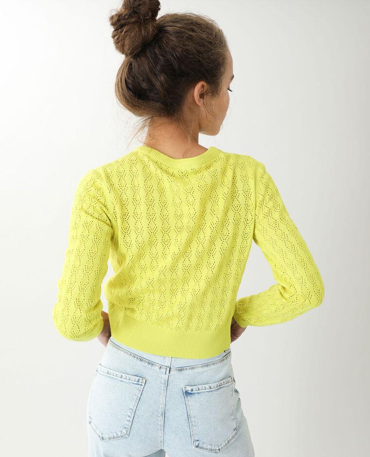 Pull fin ajouré jaune - Pimkie