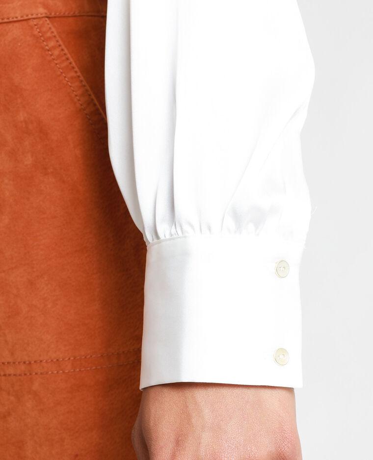 Chemise satinée blanc cassé