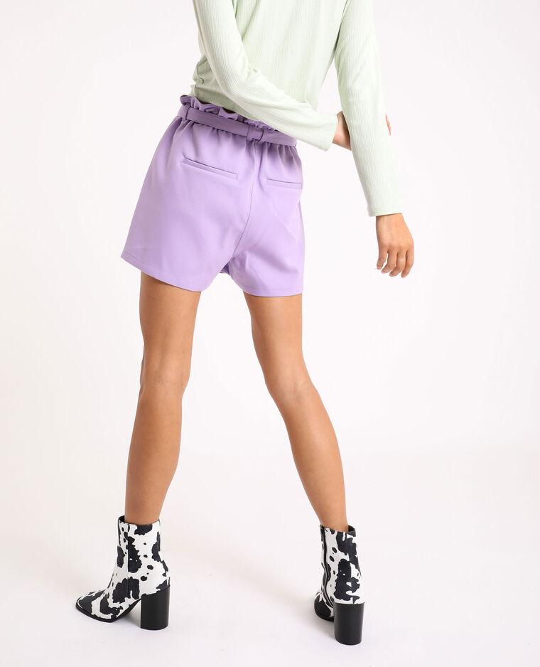Short taille haute lilas