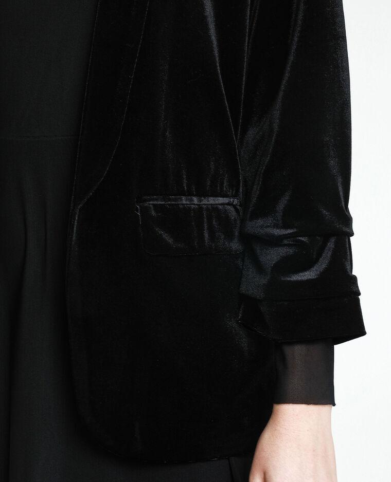 Blazer en velours noir