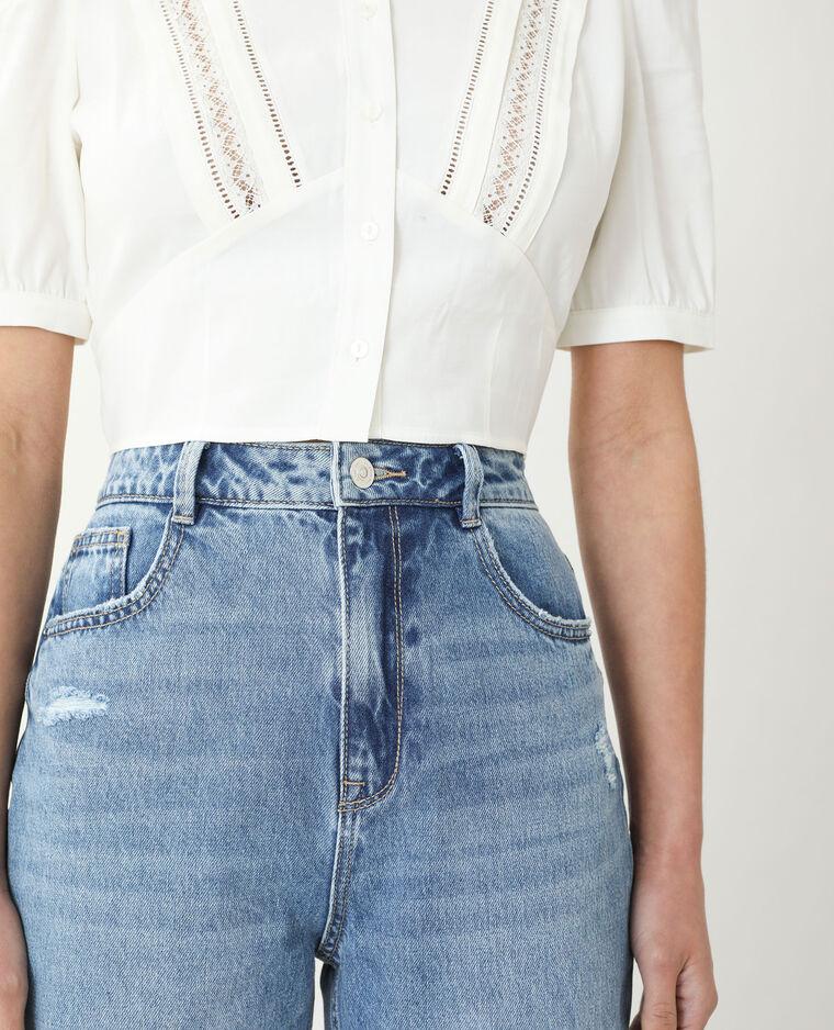 Jean mom high waist bleu denim
