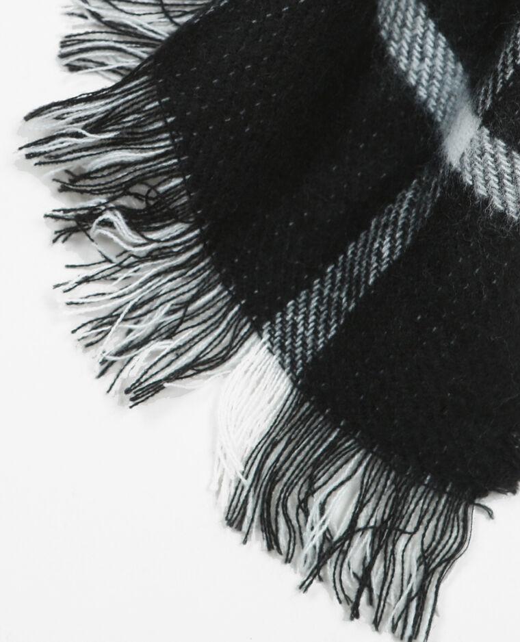 Echarpe plaid à carreaux noir