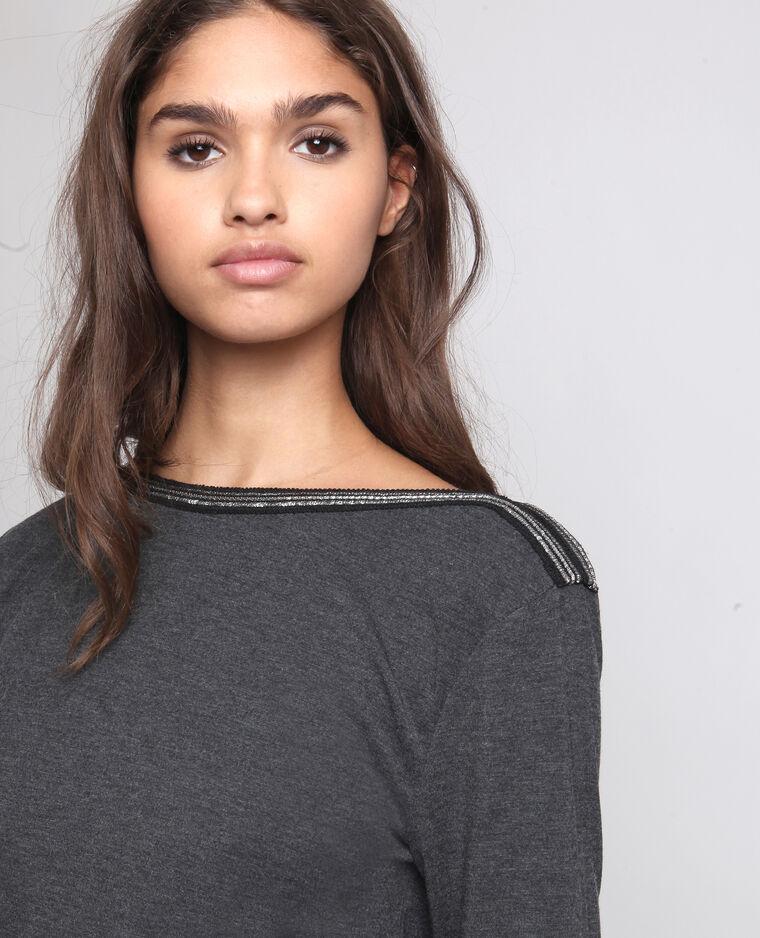 T-shirt à bijoux gris chiné