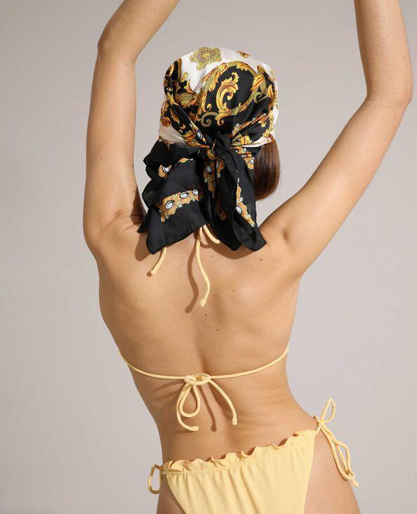 Haut de maillot de bain triangle côtelé et réglable jaune pâle - Pimkie