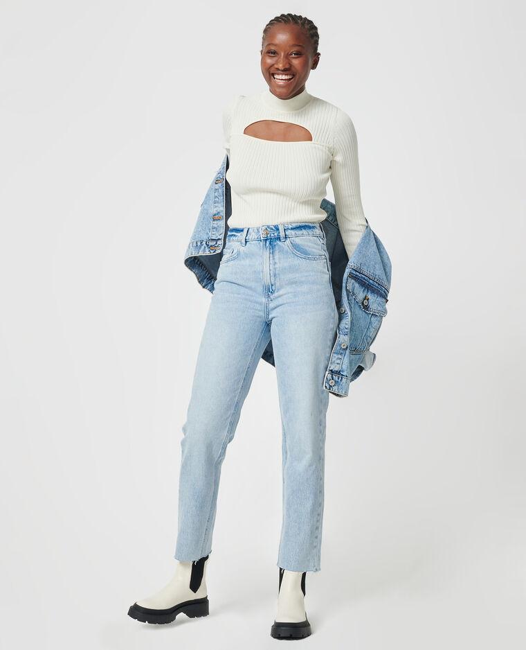 Jean straight taille haute bleu clair - Pimkie