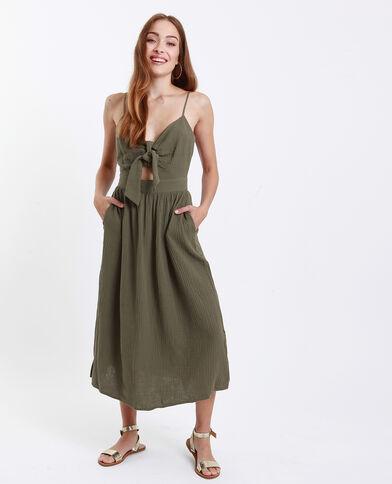 Robe nœud poitrine vert