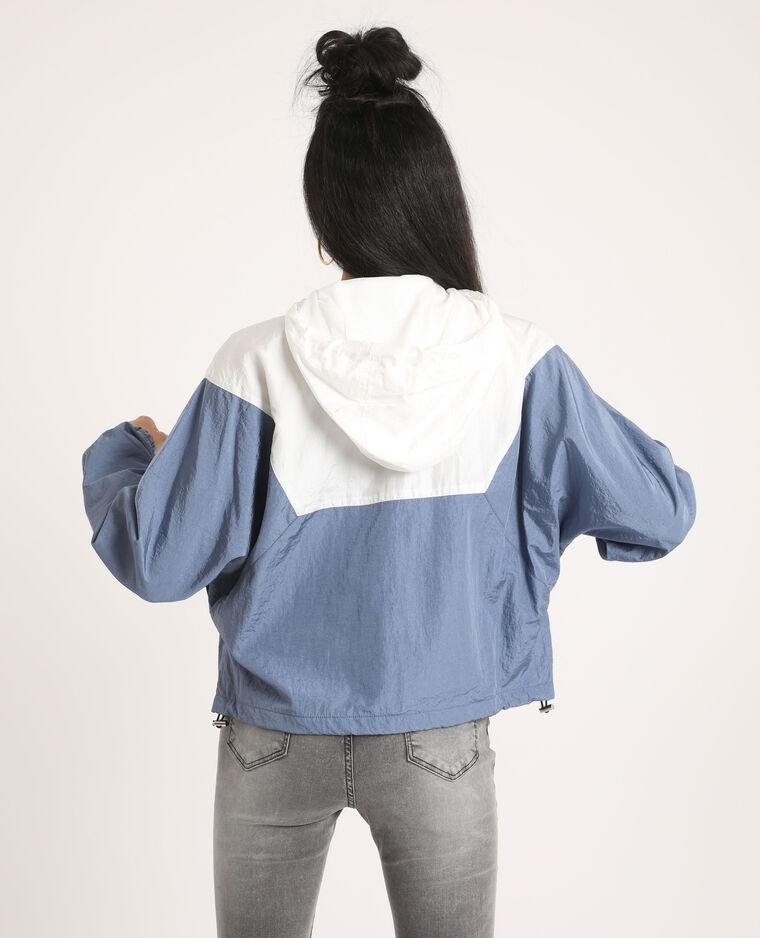 Coupe-vent color block bleu