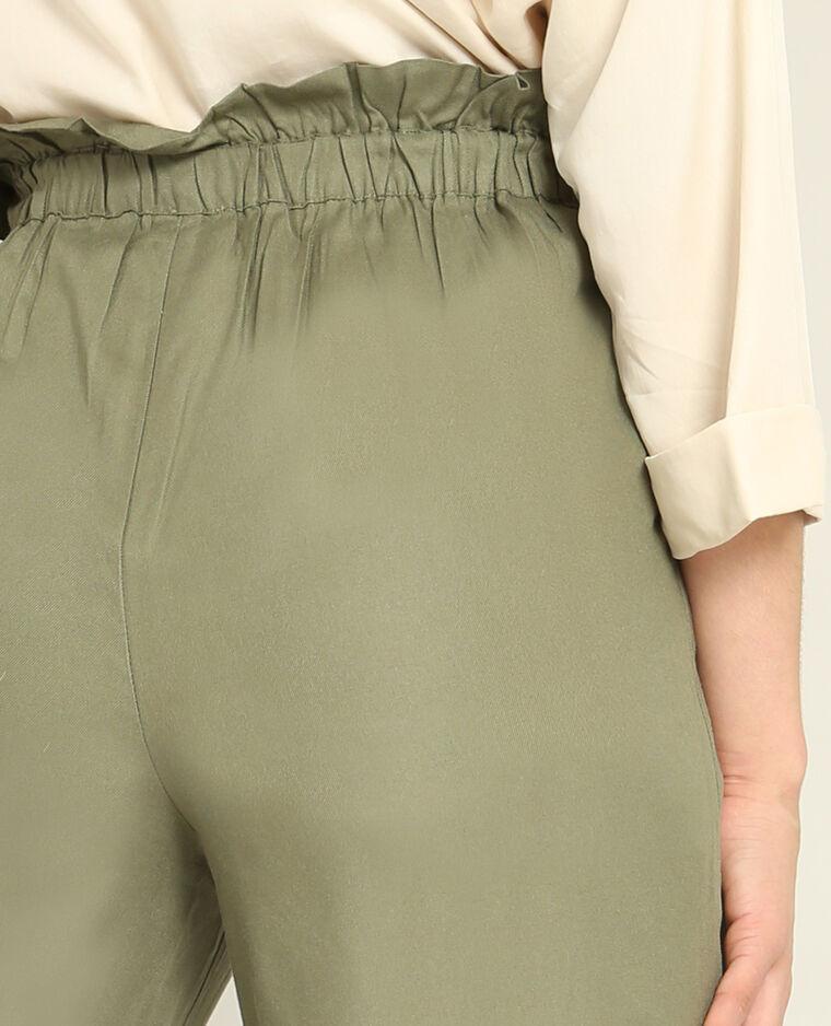 Pantalon fluide kaki