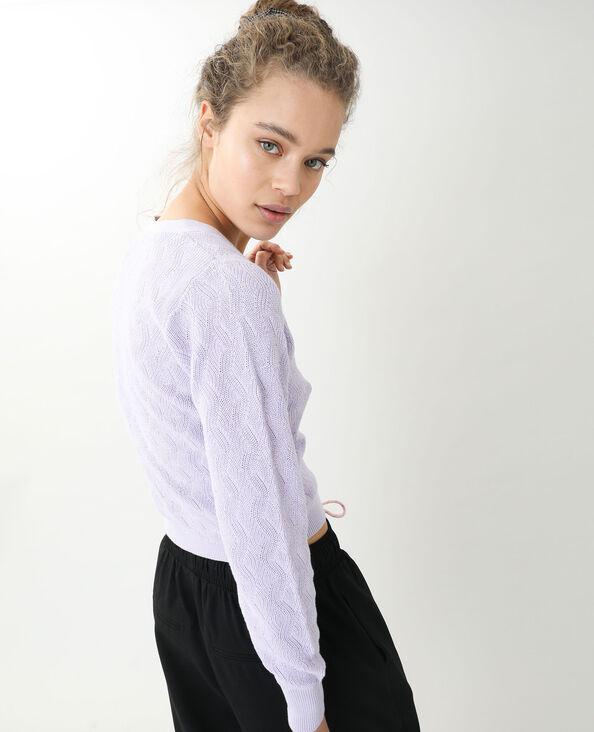 Gilet maille fantaisie violet - Pimkie