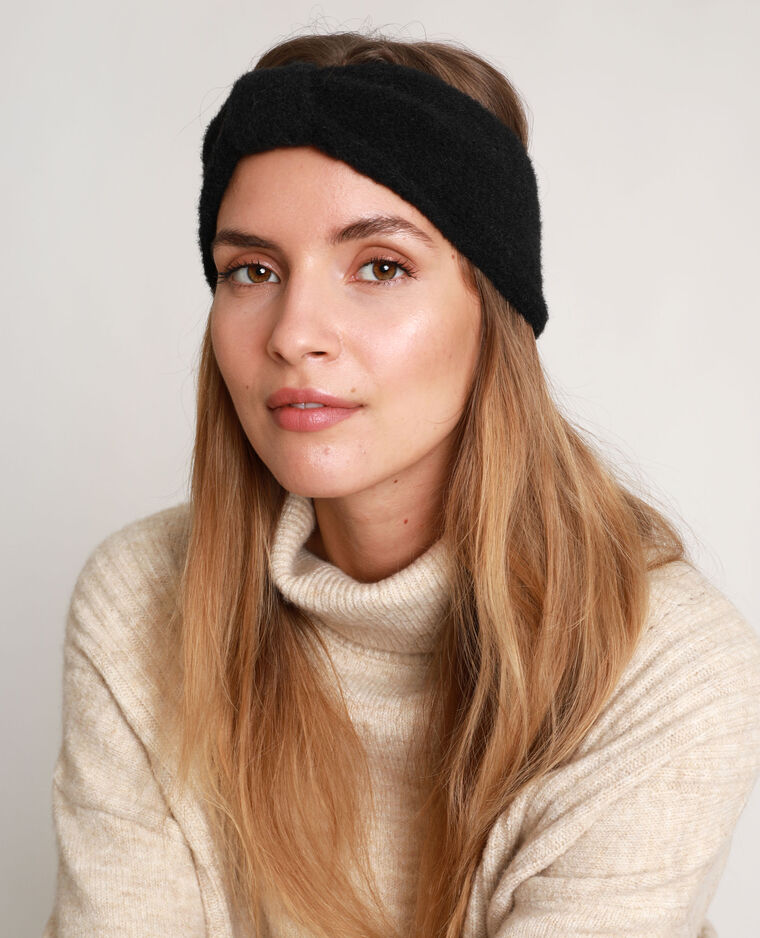 Headband à nœud noir