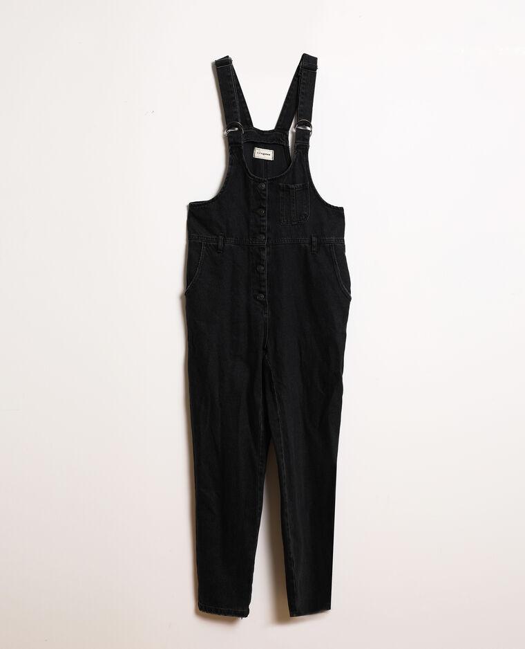 Salopette en jean noir