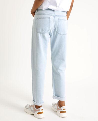 Jean droit mid waist bleu clair