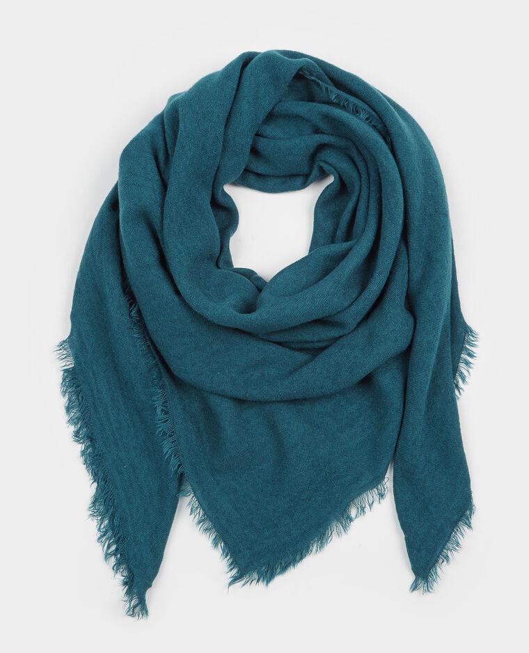 32483e7e99f Echarpe fine bleu canard - 907126B36A06