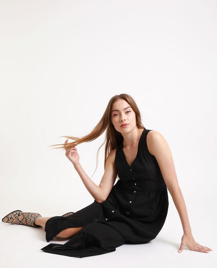 Robe longue boutonnée noir - Pimkie