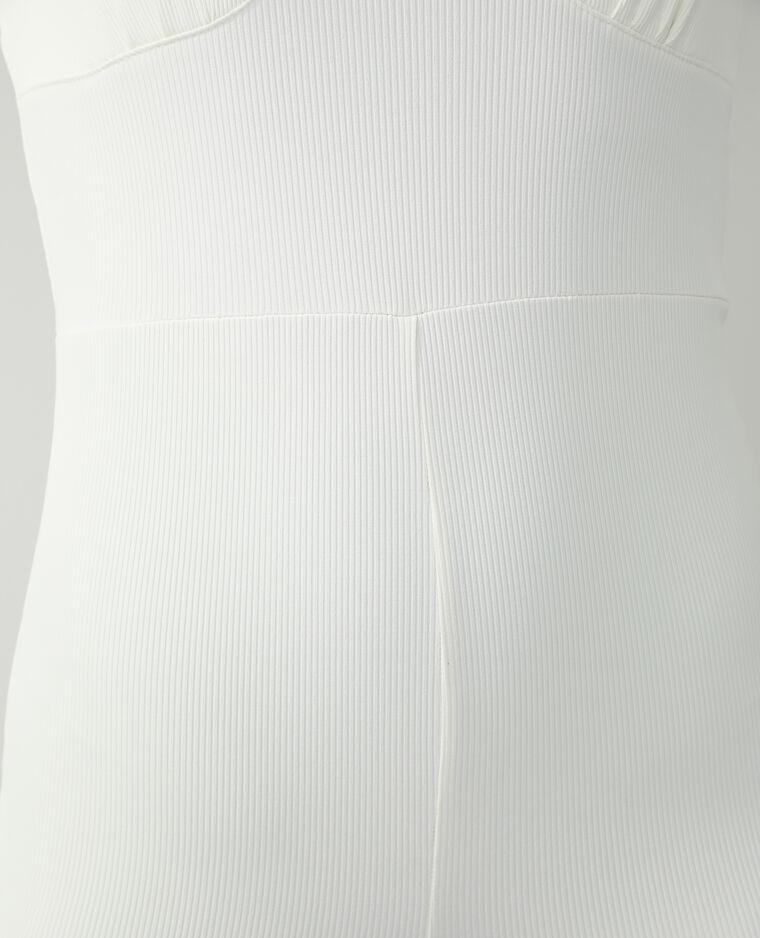 Combishort côtelé blanc cassé - Pimkie