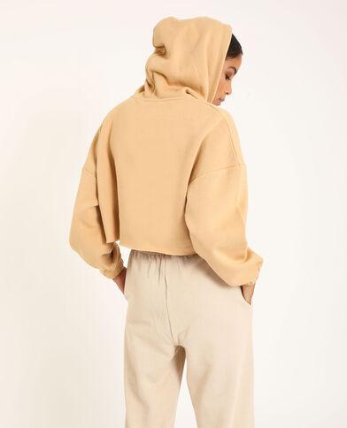Cropped sweat beige - Pimkie