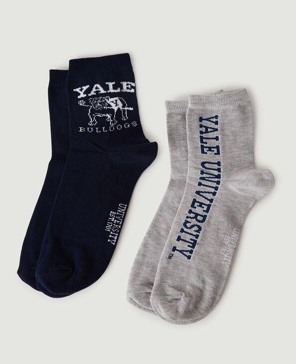 Lot de 2 paires de chaussettes YALE noir - Pimkie