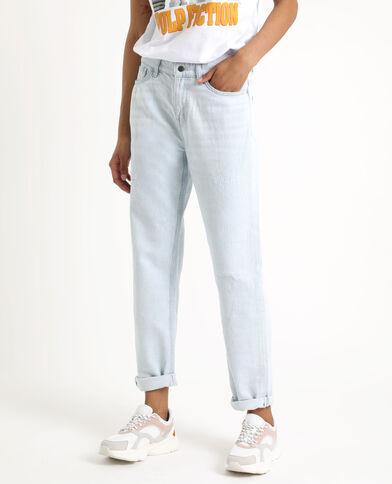 4a59e1559c Jean droit mid waist bleu clair